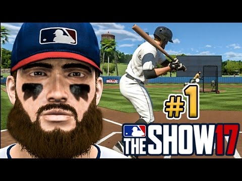 MLB The Show 17 Road to the Show Ep.1 - Creation of SS Jordan Starks (FULL INTRO)