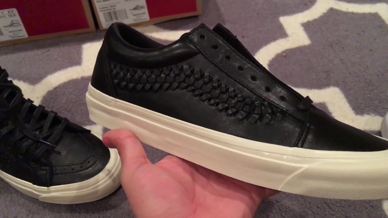 163974742cb Shoes Review  Vans Leather Weave Old Skool   Ski Hi DX Zip - Black ...