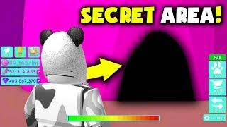 I Found SECRET Area in BUBBLE GUM SIMULATOR! (Roblox New Hats Pet Update)