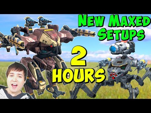 100% Maxed Fun Hangars for 2 Hours - War Robots  Gameplay WR