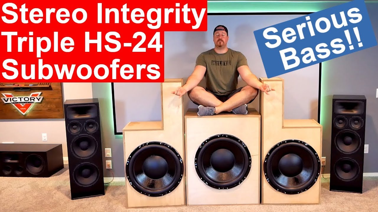 Home Theater Stereo Integrity Hs 24 Subwoofers Diy Build And Excursion Demos Insane B