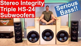 Home Theater Stereo Integrity HS-24 Subwoofers | DIY Build and Excursion Demos | Insane Bass!!!
