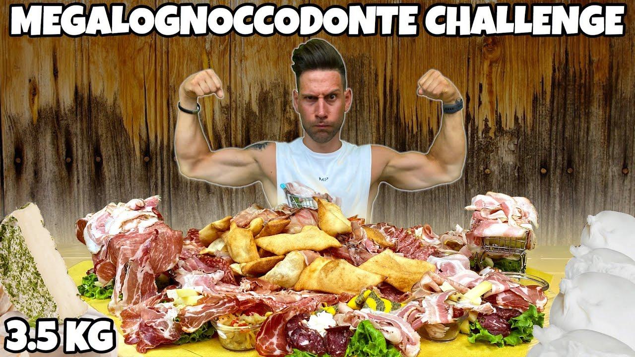 GNOCCO FRITTO di SALUMI e FORMAGGI CHALLENGE - (MEGALOGNOCCODONTE) - MAN VS FOOD