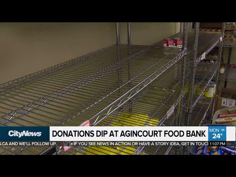 Food bank struggling with low donations
