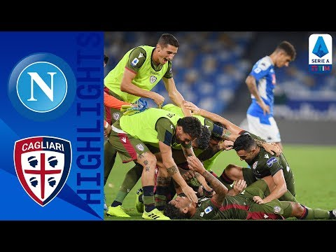Napoli 0-1 Cagliari | Late Drama as Cagliari beat 10-men Nap