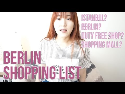 Berlin Shopping List