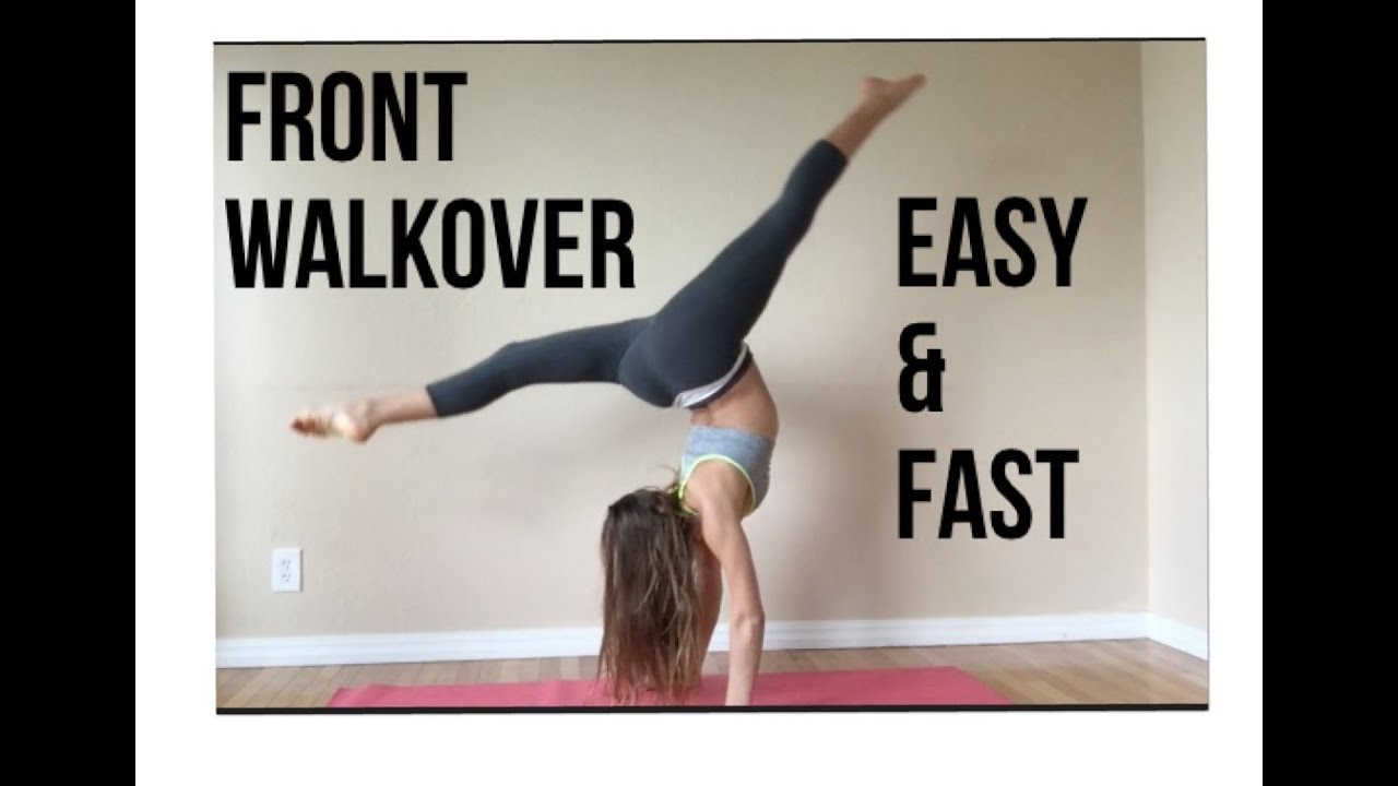 how to do a front walkover simple fast and easy youtube
