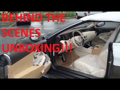 Behind the Scenes Unboxing the Mercedes Benz S-Class Cabriolet!!!