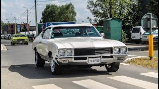 Muscle cars leaving a car show | 6° Summer meeting 2017