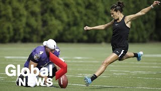 U.S. soccer star Carli Lloyd expressing interest in becoming NFL kicker