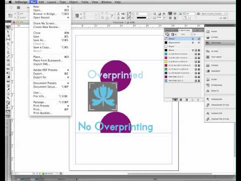 Importing Spot Colors To InDesign