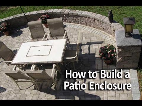 how to build a patio enclosure with seating walls youtube. Black Bedroom Furniture Sets. Home Design Ideas
