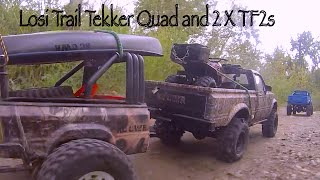 Rc Cwr Losi Trail Trekker Quad And 2 Tf2s