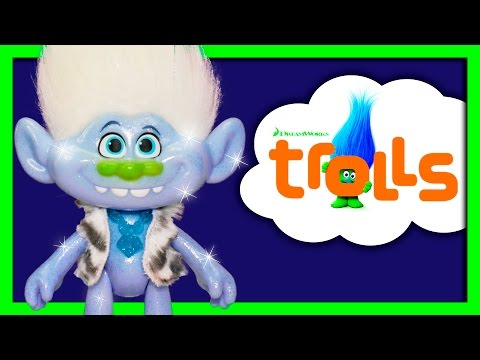 Unboxing New Troll's Glitter Guy Diamond Doll And Meeting Branch
