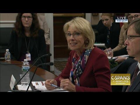 Exchange between Rep. Clark & Secretary Betsy DeVos (C-SPAN)