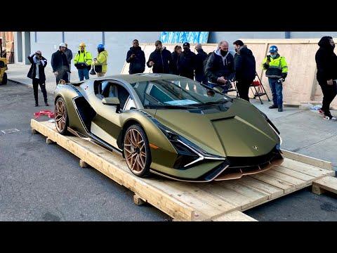 The $3 Million Lamborghini Sian Unboxing in New York City!