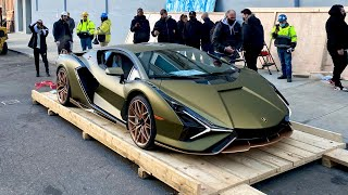 The $3 Million Lamborghini Sian Unboxing in New York City!