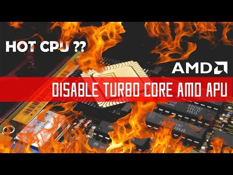 How to Disable/Enable Turbo Core in AMD APU - YouTube