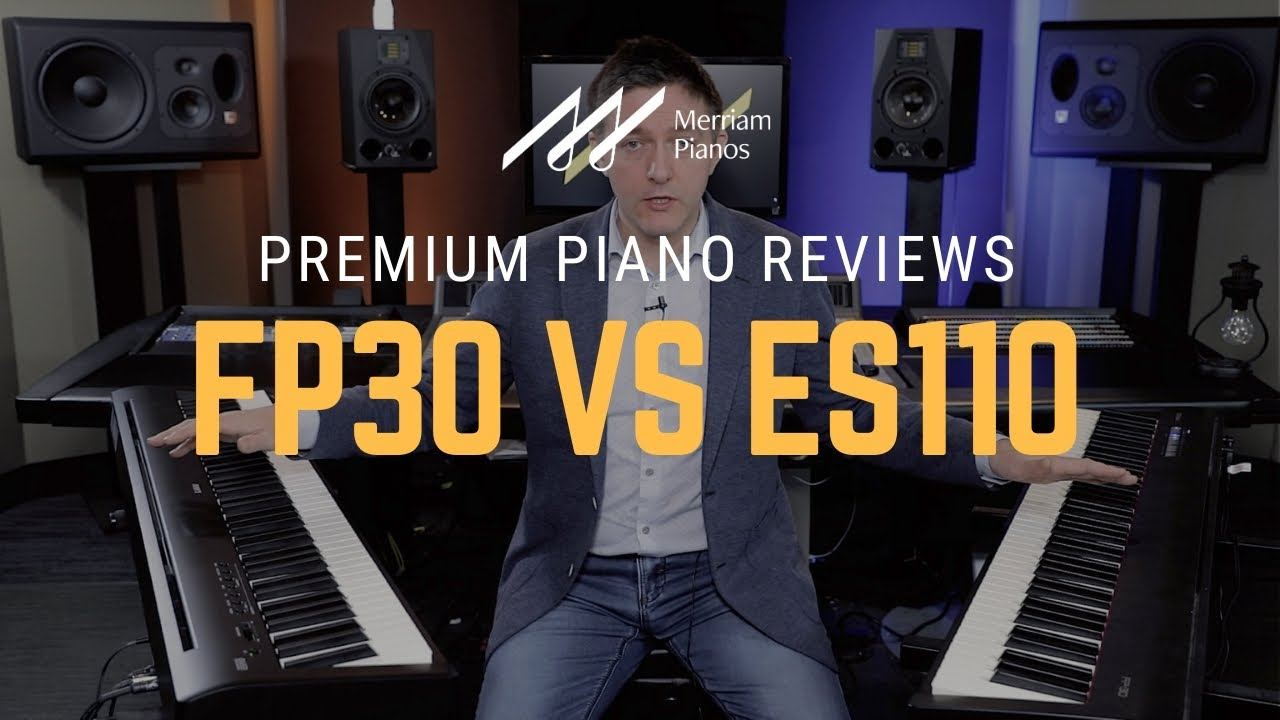 Roland Fp 30 Vs Kawai Es110 Digital Piano Comparison Review Demo Youtube