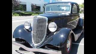 1934 Ford 3 Window Cpe Henry Steel Motor City Flathead V8 Walk Around