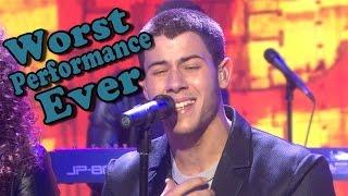 Nick Jonas - Jealous - Live  (Worst Performance Ever) Shreds