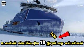 இராட்சத தோற்றம் கொண்ட 10 மிகப்பெரிய கப்பல்கள் | Abnormally 10 Largest Ships | Tamil