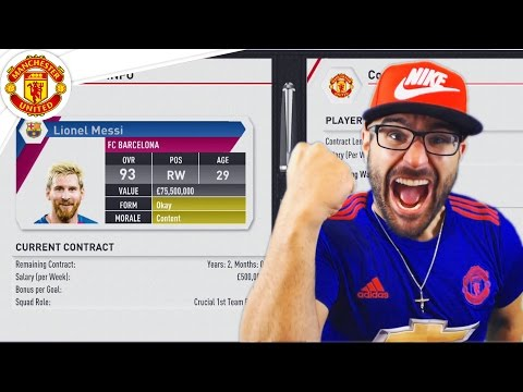 MESSI DEAL ACCEPTED! MANCHESTER UNITED FIFA 17 Career Mode #02