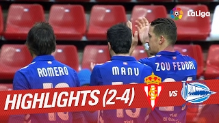 Video Gol Pertandingan Sporting Gijon vs Deportivo Alaves