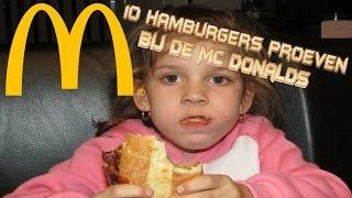 10 hamburgers proeven van Mc Donalds maar zijn we nou opgelicht?!