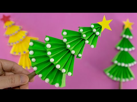 Paper Christmas Tree | How to Make a 3D Paper Xmas Tree DIY Tutorial | Christmas Decorations Ideas