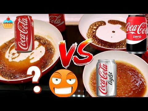СРАВНИВАЕМ COCA-COLA ORIGINAL vs ZERO vs LIGHT. Эксперимент.