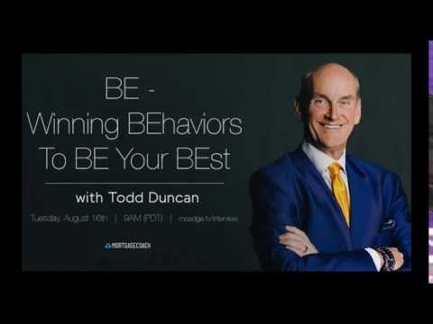 Winning BEhaviors To BE Your BEst by Todd Duncan