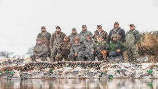EPIC Oklahoma Duck Hunt over Small Pond (13 Limits)