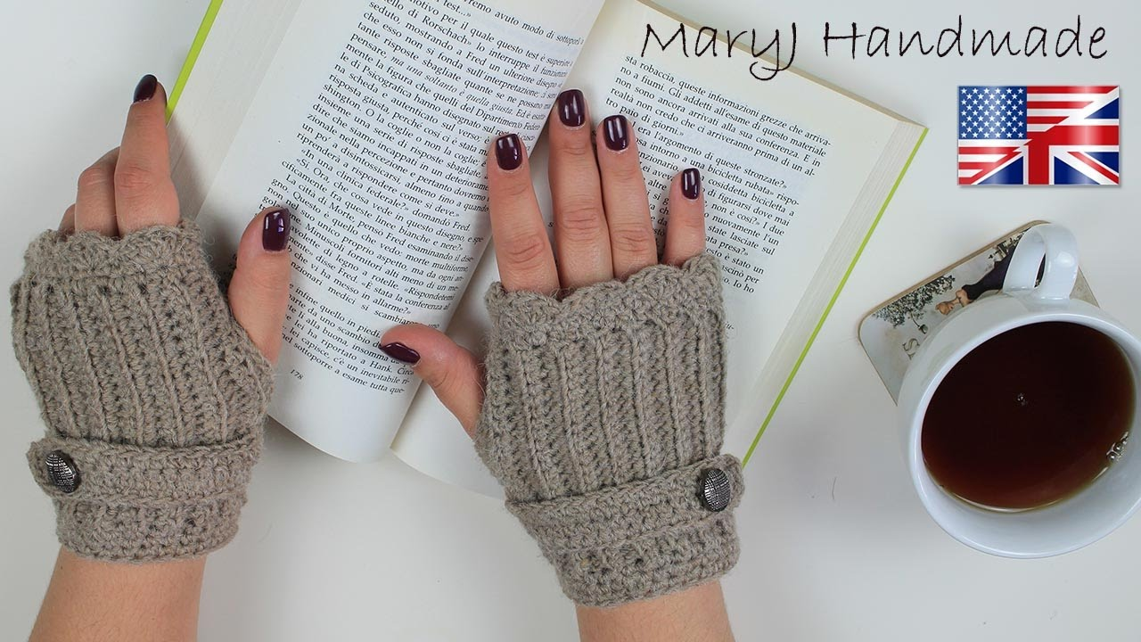 Crochet Tutorial Fingerless Gloves Written Pattern In Description