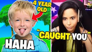 I Caught a 4-Year-Old *STEALING* In Fortnite ??