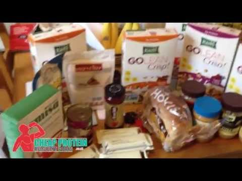 Healthy Bodybuilding Diet Grocery Shopping - Cereal, Protein bars & Gains