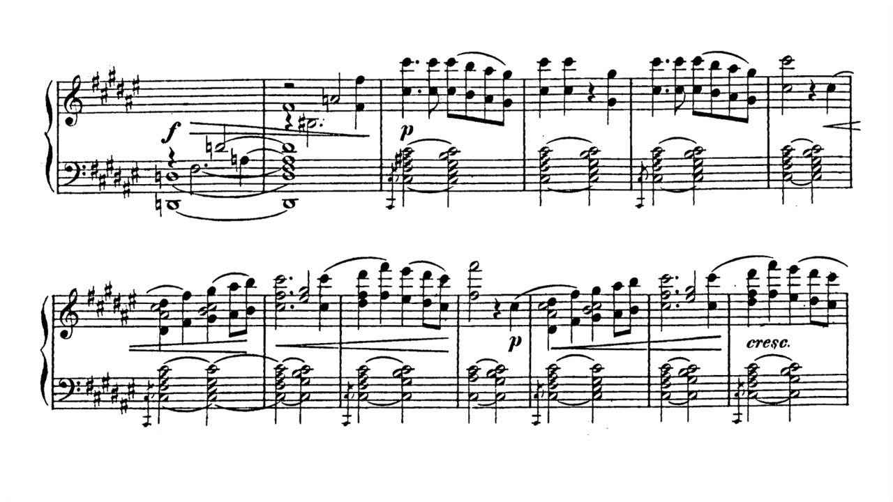 1812 Festival Overture, Op  49, in E flat major - Tchaikovsky (Arrangement  Score)