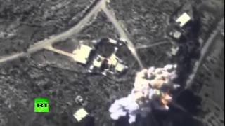Combat cam: Massive bombardment of ISIS oil refineries, tankers by Russian warplanes