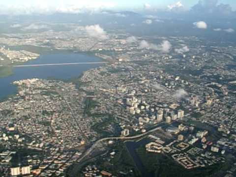 Puerto Rico- Area Metro (View of the metro side of PR from the sky)