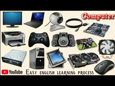 Computer part name || Parts of computer || Computer || Easy English Learning Process