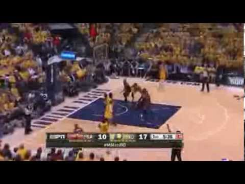 NBA Playoffs 2014 - Miami Heat vs Indiana Pacers Game 1 Highlights | 5/18/14