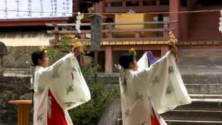 休ヶ岡八幡宮秋祭り「神楽」(鈴舞)