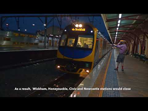 History of the Newcastle railway line - trains in Newcastle, NSW