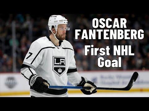 Oscar Fantenberg #7 (Los Angeles Kings) first NHL goal 09.11.2017