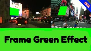 New York Frame Green Screen effect video