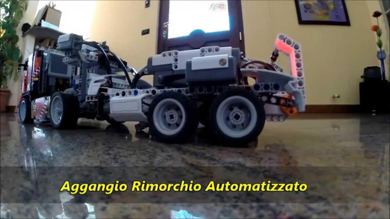 lego technic camion da gara 42041 con rimorchio youtube. Black Bedroom Furniture Sets. Home Design Ideas