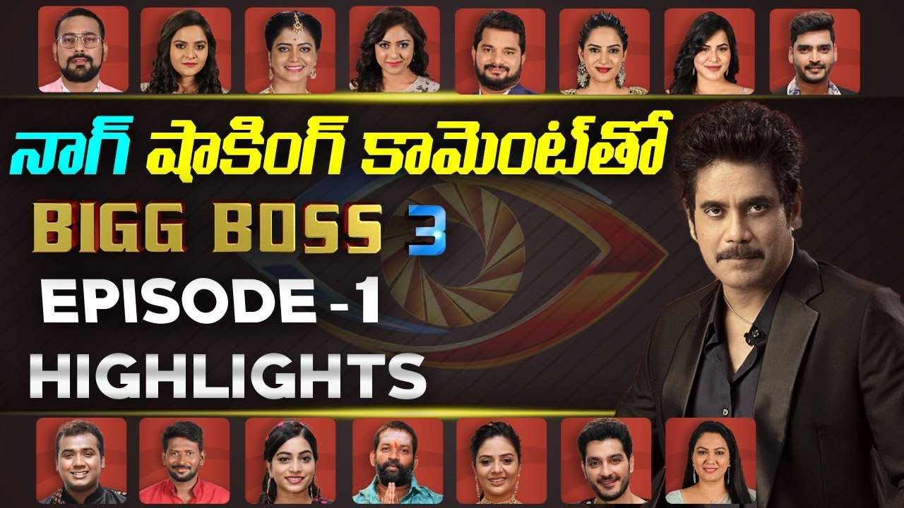 Bigg Boss 3 Telugu Contestants Episode 1 Highlights | Nagarjuna | Bigg Boss  3 Telugu