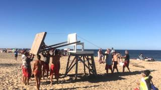 Lifeguard chair comes down at Newcomb Hollow