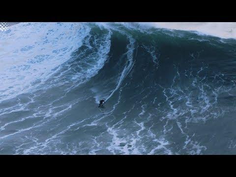 Jet Ski Driver Completes Incredible Rescue Of Big Wave Surfer At Nazaré