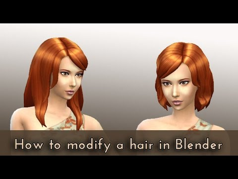 How to modify a hair in Blender